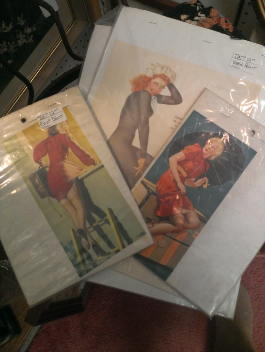 Pinups including a few Vargas calendar pages $18 - $22